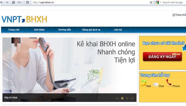 đăng ký tài khoản vnpt-bhxh